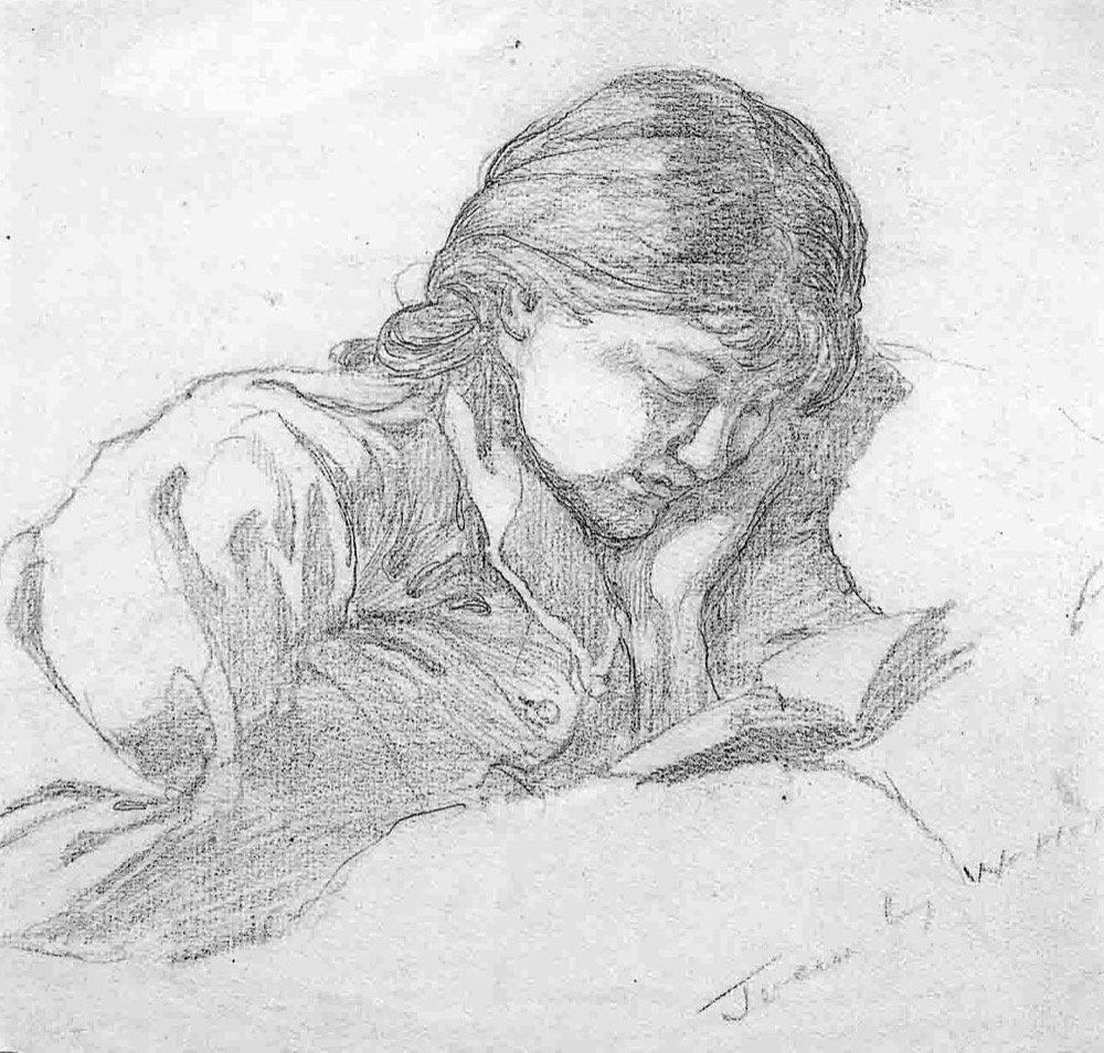 Portrait of Joan - pencil