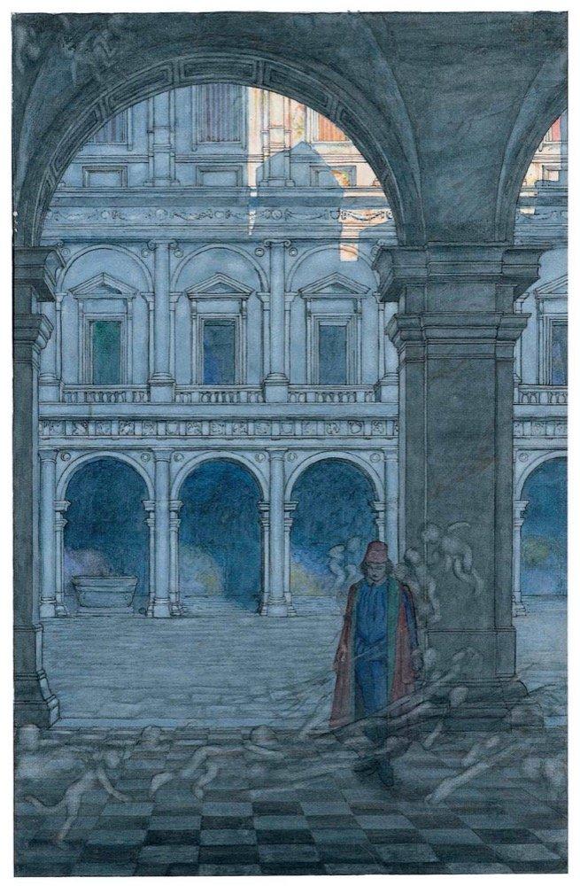 Duke.'So full of shapes is fancy.' facing pviii - watercolour