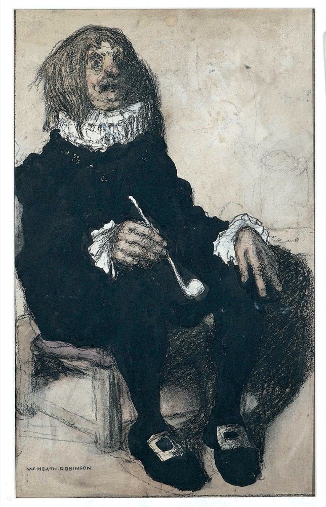 Seated man with pipe
